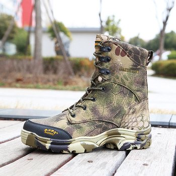 Tactical Hunting Anti-wear Boots Bionics Camouflage High Tube Fishing Outdoors Mountaineering Camping Climbing Non-slip Shoes