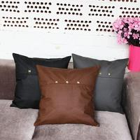 50PCS/STYLE OEM New Home Decorative Pillowcases Imitation Leather PU 45*45CM Cushion Cover Sofa Car Square Throw Pillow Covers