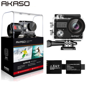 AKASO Outdoor Action Camera Brave 4 WIFI 4K HD Waterproof Camcorder Diving Underwater Bike Helmet Video Cam for Extreme Sports