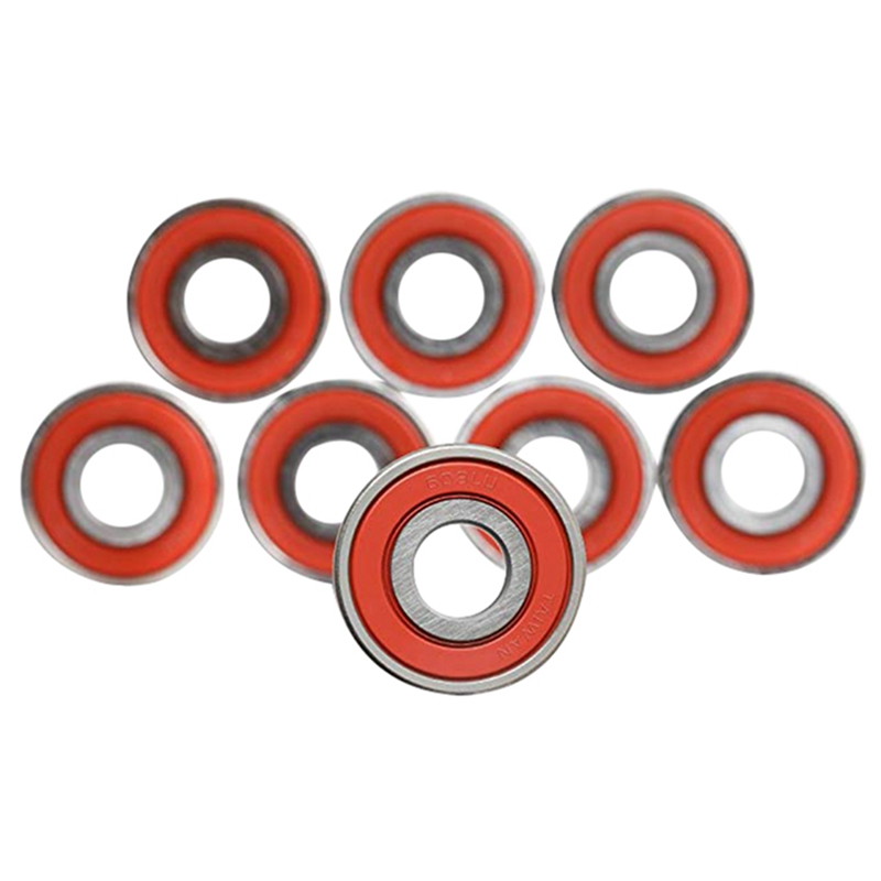 10Pcs 608 ABEC-11 Skateboard Scooter No Noise Oil Lubrication Smooth Plate Scooter Inline Pulley Bearing Accessories HX02