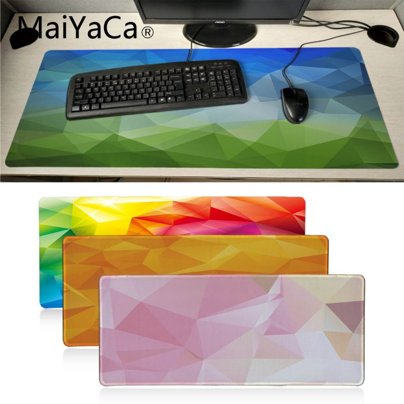 MaiYaCa Kaleidoscope Geometry Colorful Office Mice Gamer Soft Mouse Pad BIG SIZE Computer Notbook Mousepad Gaming Mouse Pad