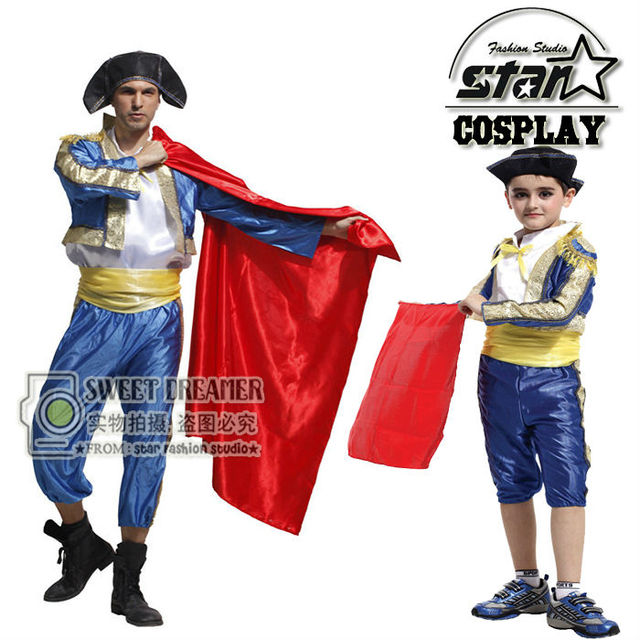 father and son matching suits halloween costumes cosplay matador costume spanish bullfighters dancing costumes uniforms sc