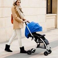 Free shippingPortable Folding Four Wheels Baby Strollers Travel System Baby Car Seat Pushchair Buggy Pram Bottom Basket Brand Quality 0~36 M