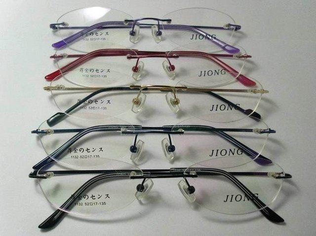 FRETE GRÁTIS-aço Inoxidável frame óculos sem aro prescrição óptica óculos espetáculo armação dos óculos moda 1132