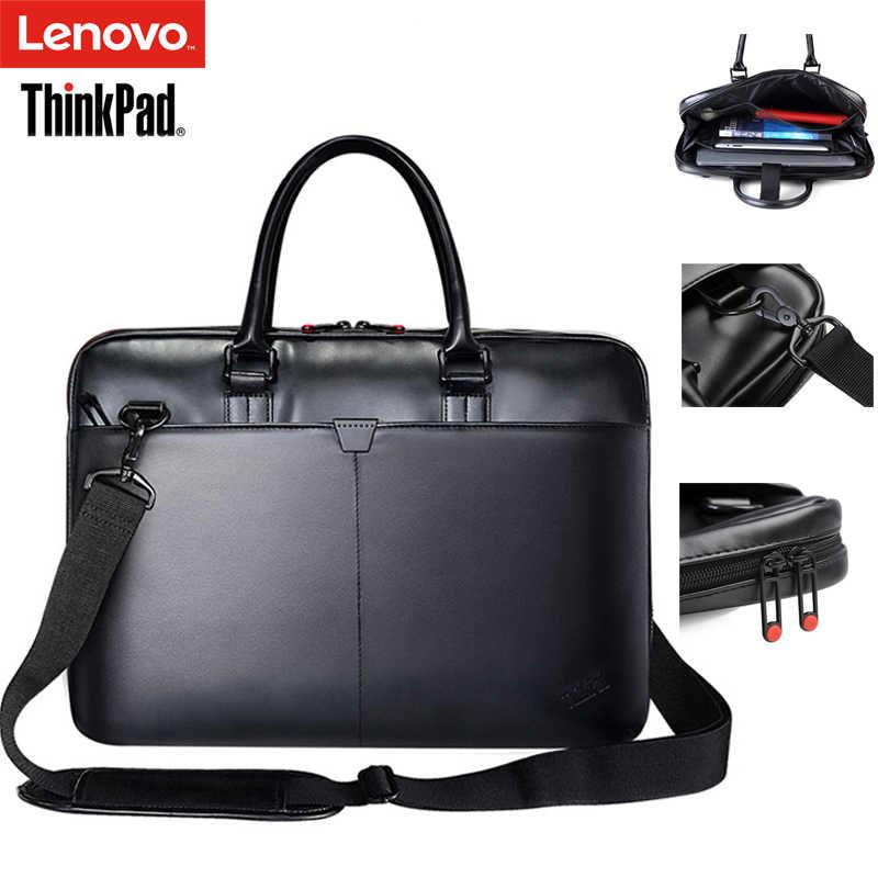レノボ ThinkPad ラップトップバッグ革ショルダーバッグバッグ男性と女性のハンドバッグブリーフケース T300 ため 15.6 インチと以下のノートパソコン