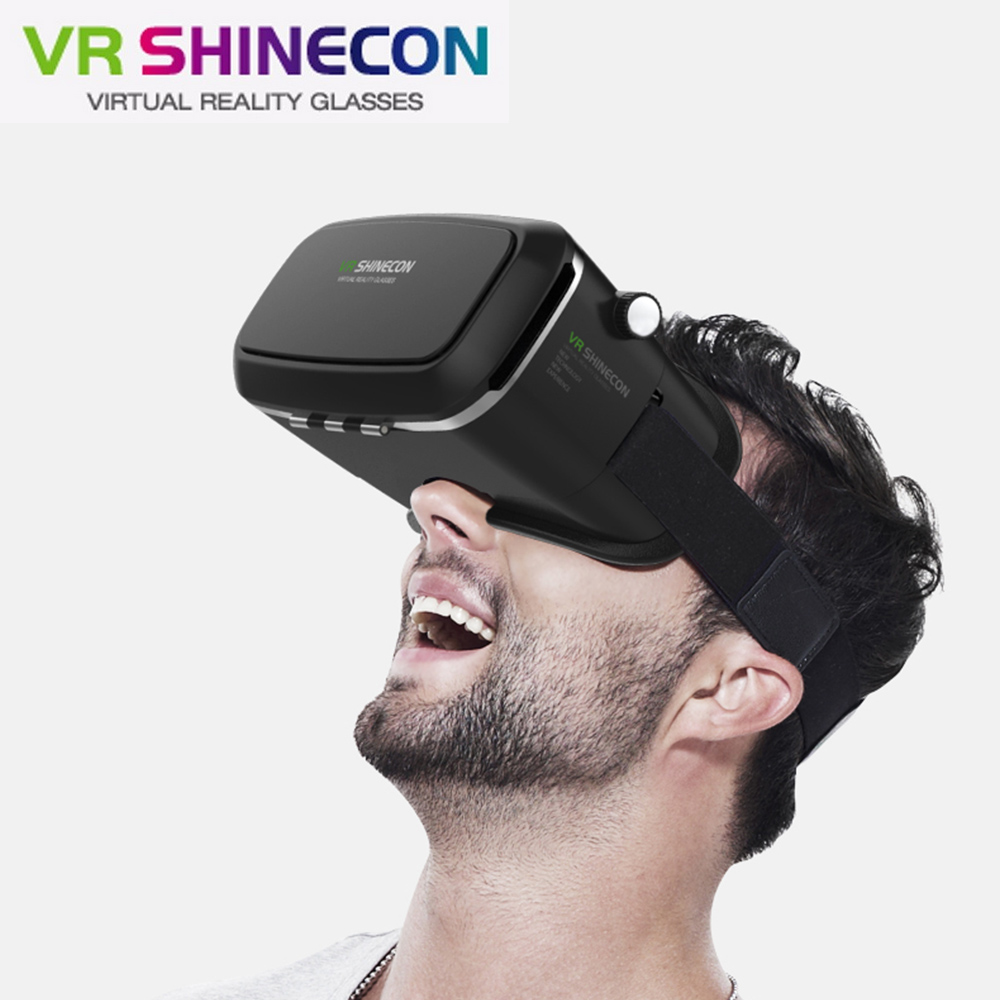 2017 VR shinecon Pro Version Google Cardboard VR Virtual Reality 3D Glasses +Smart Bluetooth Wireless Remote Control Gamepad