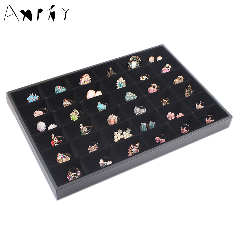 36 Grids Ring Earring Display Tray Jewelry Accessory Storage Box