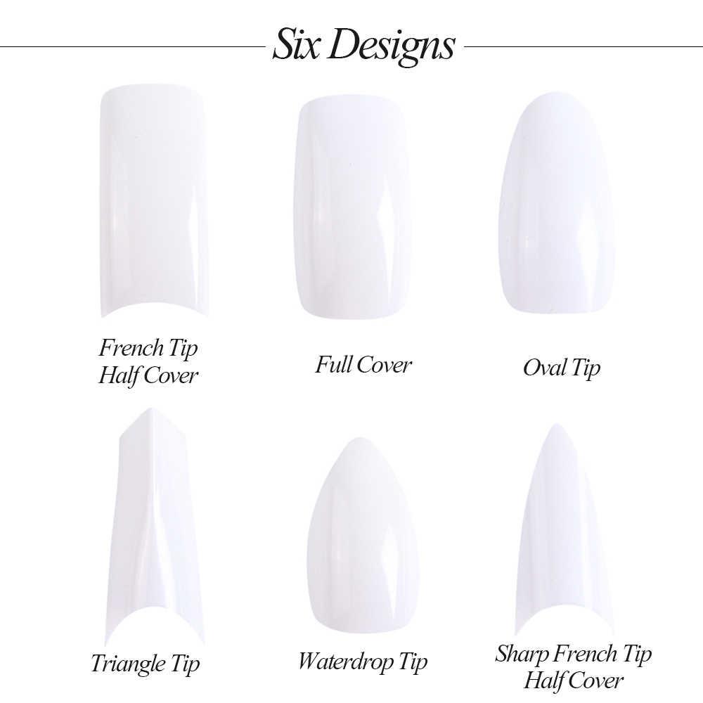 Полная красота, 500 шт., для дизайна ногтей, ложные наконечники, французская быстросохнущая УФ-форма для наращивания, для самостоятельного наращивания, инструмент для маникюра и декора ногтей CH872