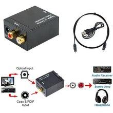Cewaal Цифровой оптический Toslink SPDIF коаксиальный в аналоговый RCA аудио конвертер адаптер Черный