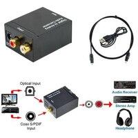 Cewaal digital óptico toslink spdif coax para analógico rca conversor de áudio adaptador preto digital para conversor de áudio analógico|Conversor digital-para-analógico| |  -