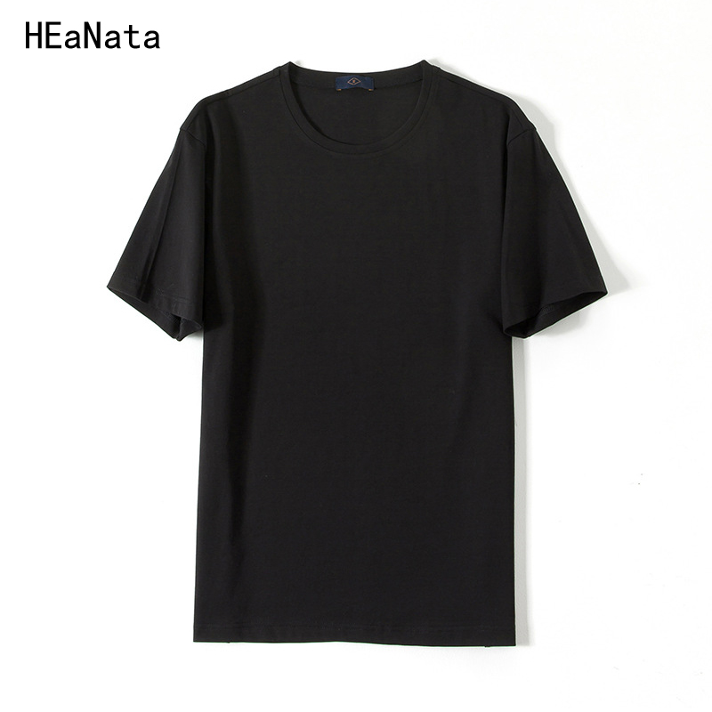 Men t shirt 2018 New Solid color T Shirt Mens Black and White Cotton T-shirts Summer Skateboard Tee Boy Skate Tshirt Tops XXL