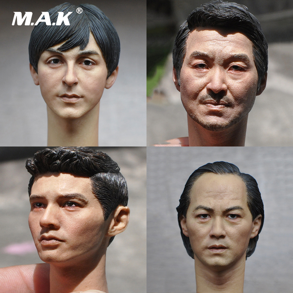 1:6 European American Male Head Sculpt Carving for 12 inches Action Figures Body Accessories 1 6 male head sculpt leonardo wilderness hunter hair head carving for12 action figure body doll toys accessories