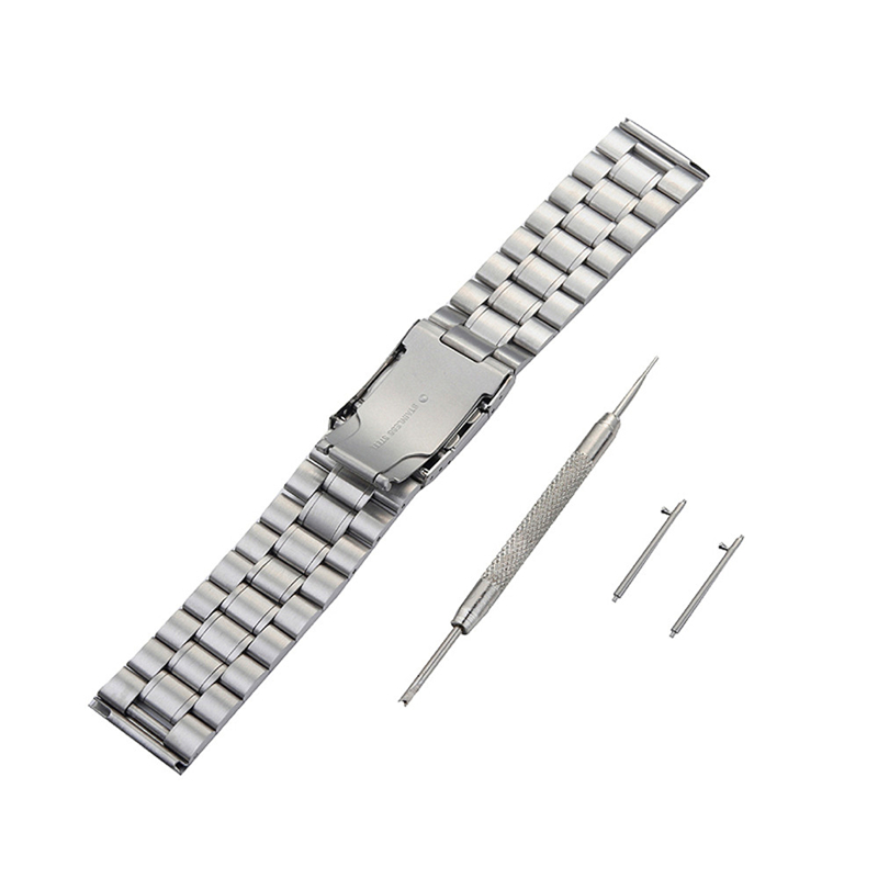 22mm Black&Silver Sporting Watchbands Stainless Steel Quick Release Watch Straps+Tools for ASUS ZenWatch 2 WI501Q Correa Reloj монитор asus mx239h silver black
