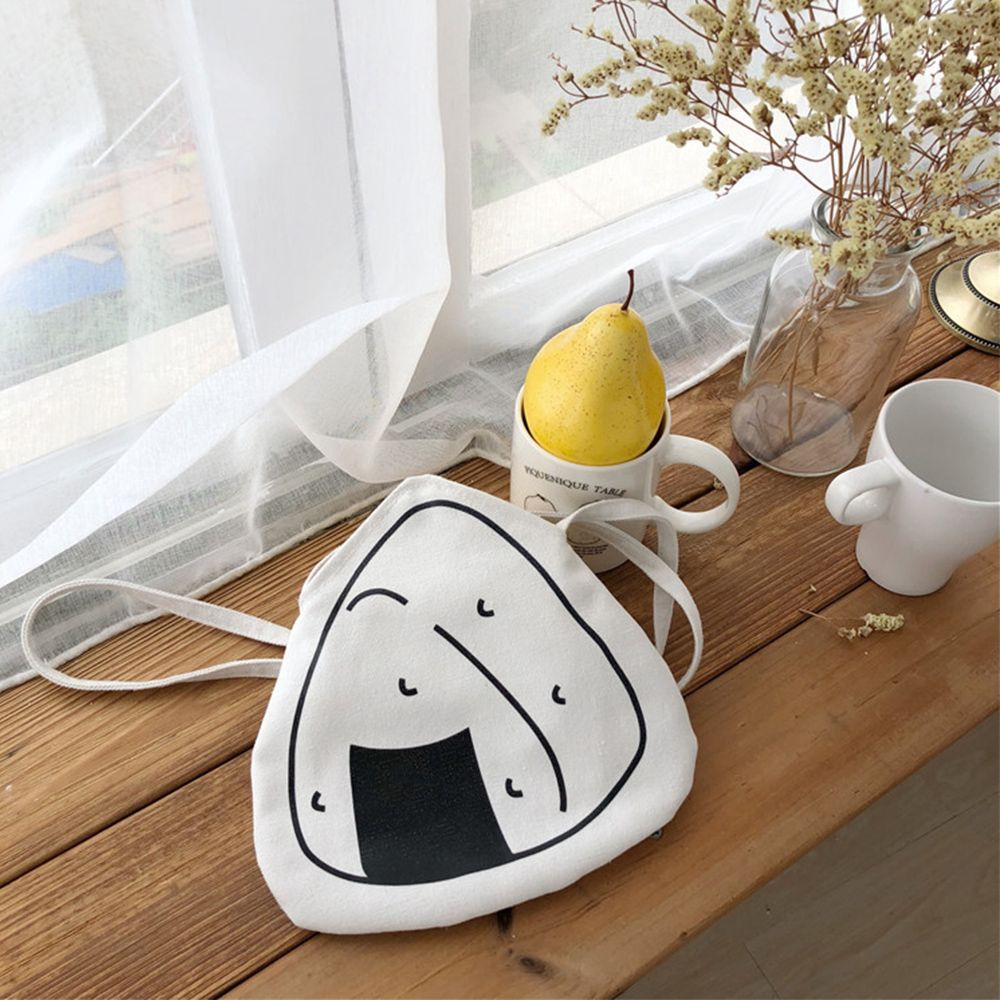 Fashion Cute Rice Balls Design Hasp Bag Portable Funny Handbags Canvas Casual Tote Bags Leisure Cross Body Bag For Women Gifts
