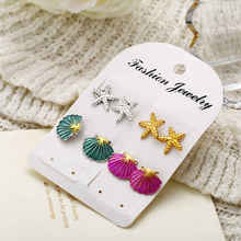 2019 New Temperament Earrings Set Fashion Shell Color Simple Starfish Wedding Bridal Jewelry