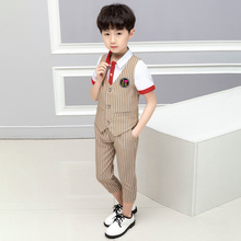 2019 Summer  new boys suit children Fashion kids clothes Cotton Short clothing cloth ALI 308