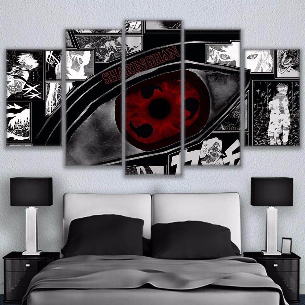 Poster Air Naruto Sasuke Kakashi Japan Anime Boy Room Wall Cloth Print 54