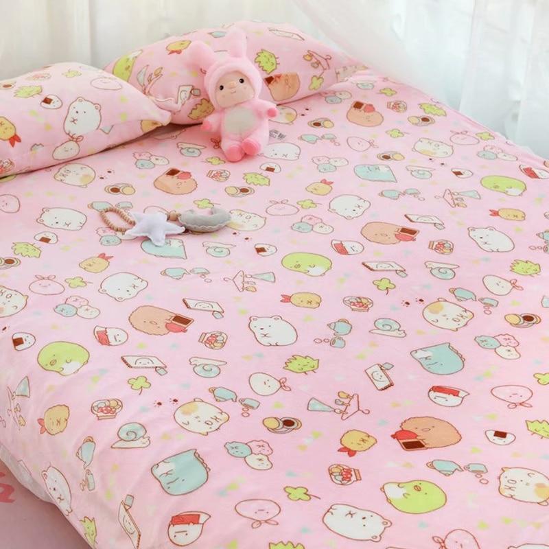 Candice Guo! Super Cute Plush Toy Sumikko Gurashi Sushi Shrimp Soft Warm Blanket Pillowcase Birthday Christmas Gift 1pc