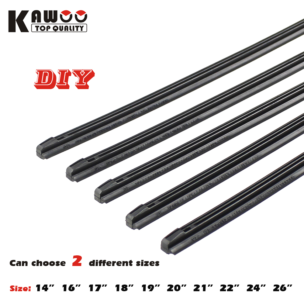 "Top Auto Car Vehicle Insert Rubber strip Wiper Blade (Refill) 8mm Soft 14"" 16"" 17"" 18"" 19"" 20"" 21"" 22"" 24"" 26"" 2pcs accessories"