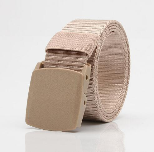 Men Female Belts Military Nylon Adjustable Belt Men Outdoor Travel Tactical Waist Belt with Plastic Buckle for Pants 130cm 4
