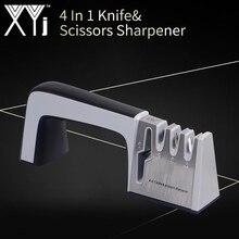 XYj 4 в 1 ножничный нож Профессиональные точильные инструменты серый точильный камень Нескользящая ручка Кухонные гаджеты бытовые принадлежности