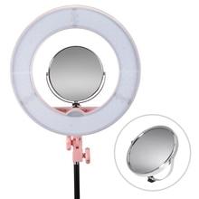 Профессиональный Двусторонняя Поворотный Полированный Регулируемая подставка увеличить фотография зеркало для макияжа Вт/Горячий башмак для фотостудии