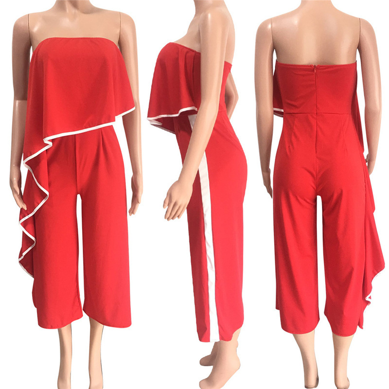 00764019ac7 2019 Womens Jumpsuit 2018 Cute Sexy Rompers Red Womens Summer ...
