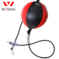 WESING Leather Boxing Speed Ball Gym Equipment Double End Boxing Ball