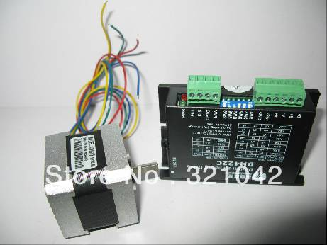 Leadshine 2phase Stepper Set (Drive + Motor) DM422C + 42HS02 0.22N.m [joy] hakusan original stepper motor drive 4257 series drive maximum 64 aliquots voltage 15v 40 2pcs lot