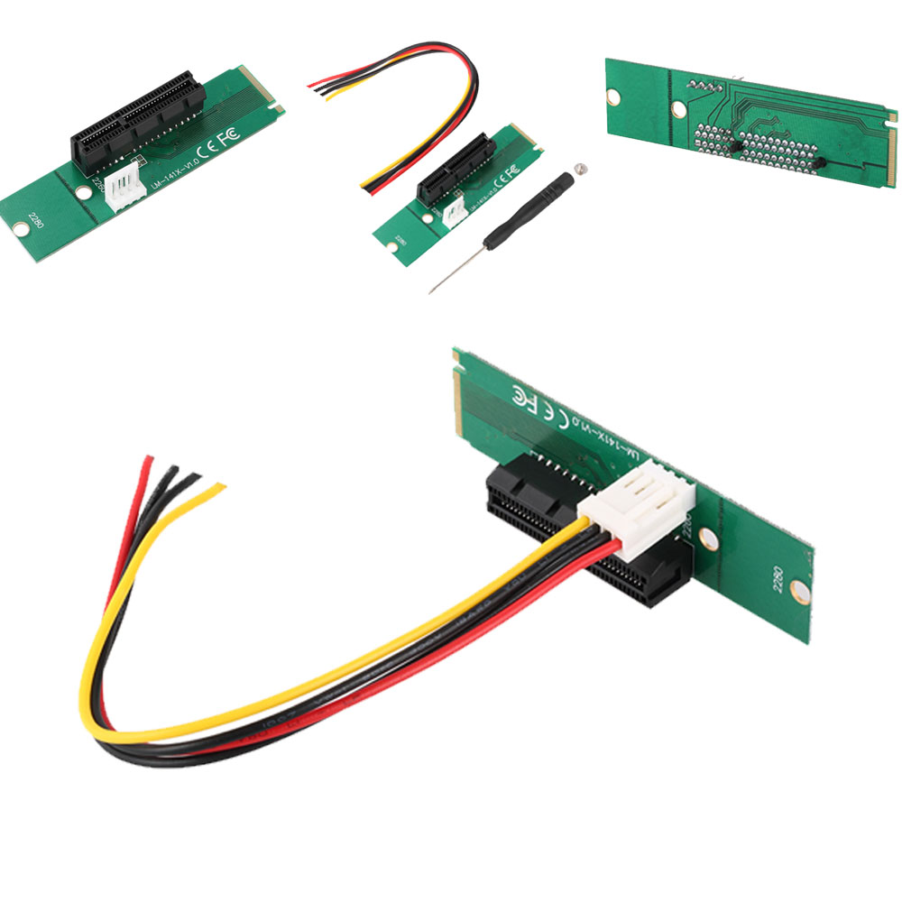 PCI-E Riser NGFF(M.2) to PCI-E 1XX4(64Pin) Expander Adaptor Riser Card for Computer Desktop or Laptop