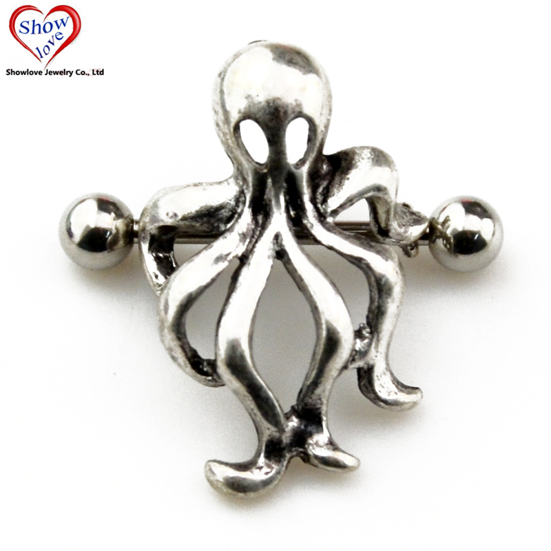 Aliexpresscom  Buy Showlove Pair Surgical Steel Octopus -1930
