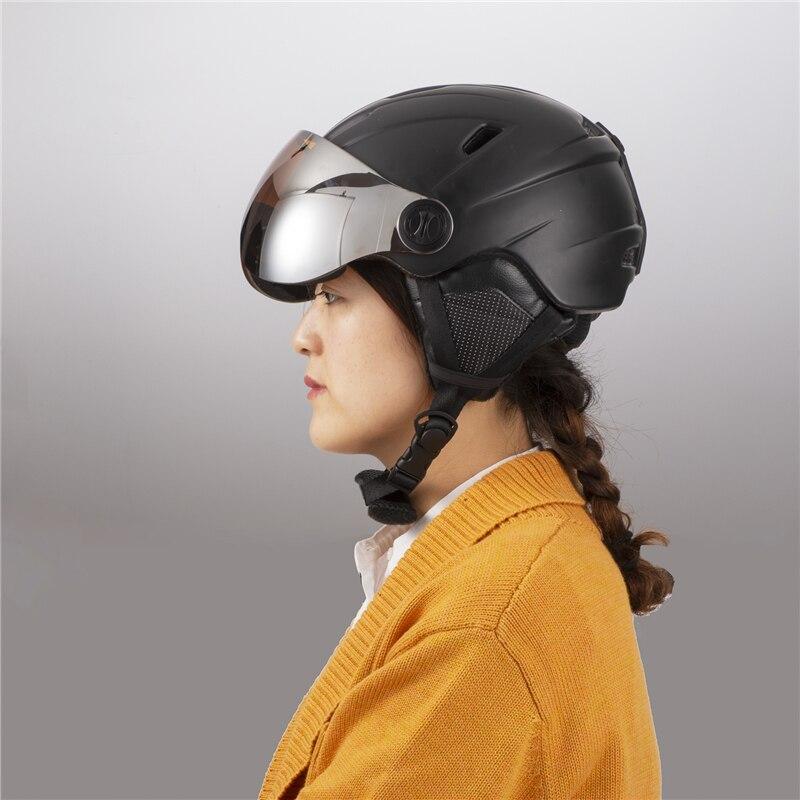 Qualité supérieure Intégralement casque de ski Avec Lunettes Demi-couvert casque de ski Lunettes CE Sports de Plein Air Snowboard Casque Noir - 6