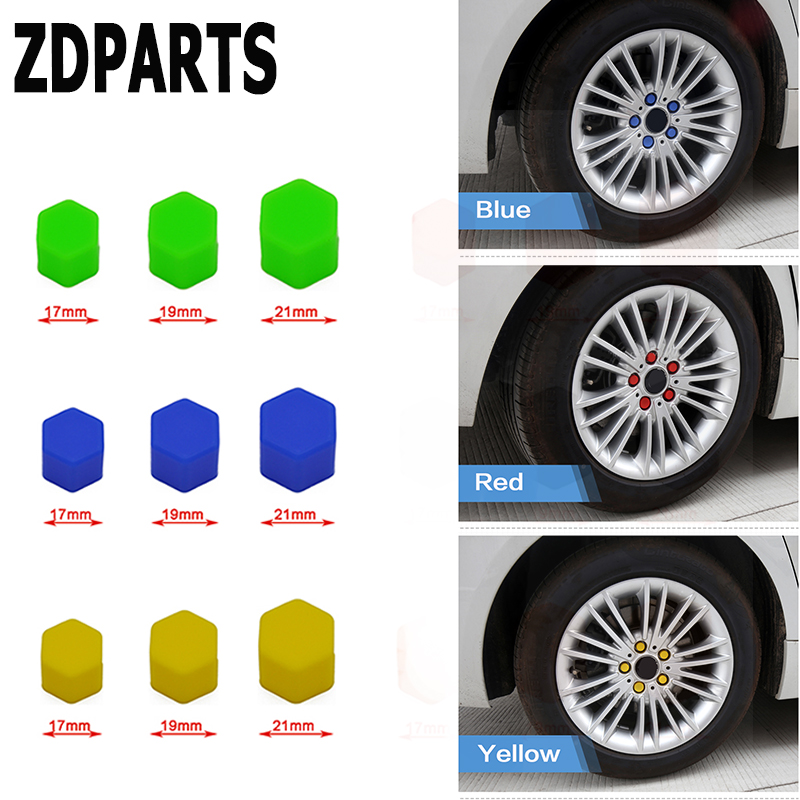 ZDPARTS 20X Silicone Car Wheel Tires Hub Caps Screw Covers For Mercedes Benz W203 W204 W211 AMG Smart Alfa Romeo 159 Mazda 3 6