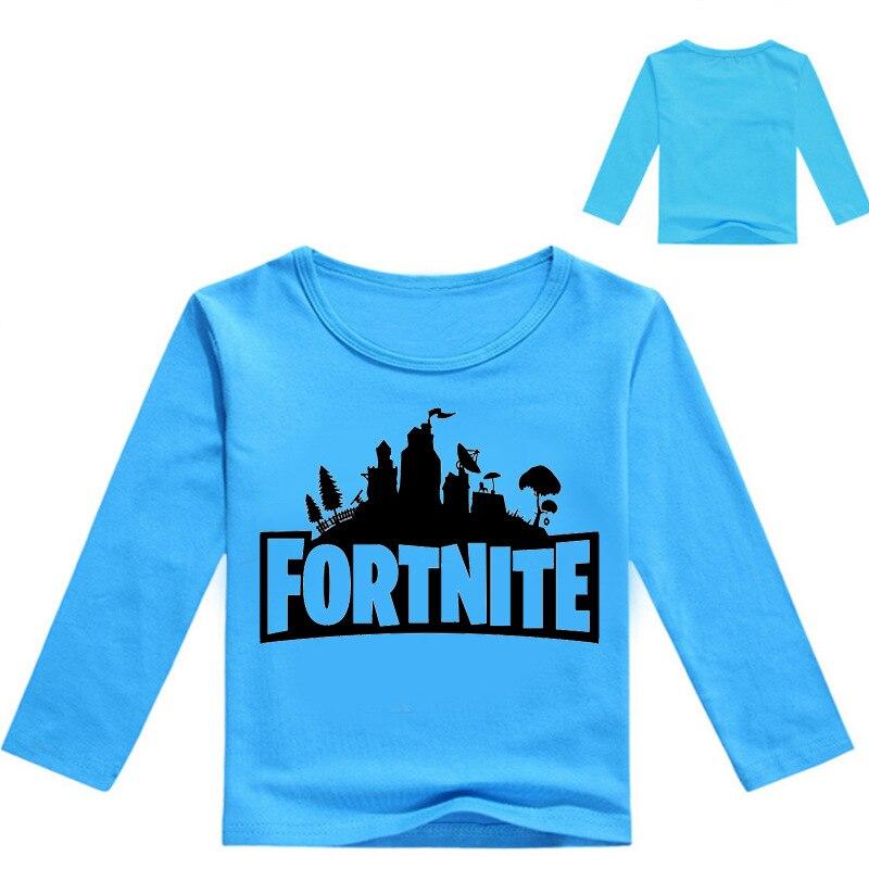 Z&Y 2-16Years Nununu 2018 Camiseta Fortnite Battle Royale Boys Long Sleeve Tshirt Kids Shirt Teenage Clothes Teen Titans Fashion