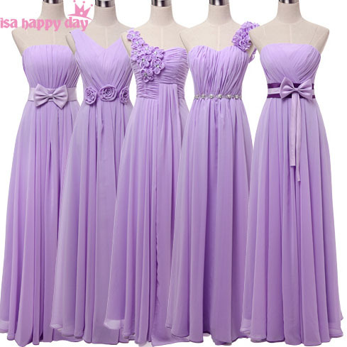 d4cc87fa2e2 vestidos de sirena elegantes full figure long chiffon v neck bridesmaid  dresses under 50 dress lavender plus size gown B2742-in Bridesmaid Dresses  from ...