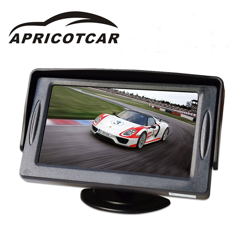 Sun Shading High-definition 4.3 Inch TFT Car Monitor Digital Screen Two-way Input Reversing Priority Monitors Video Players