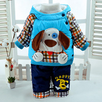 0 2 Years Baby Boy Clothes Sets 2017 New Winter Boy Winter Suit Thicken Warm Coat