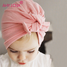 New hot selling Baby Cute Hat Knotted Rabbit Ears Model Cotton Tie Children Kids Cap