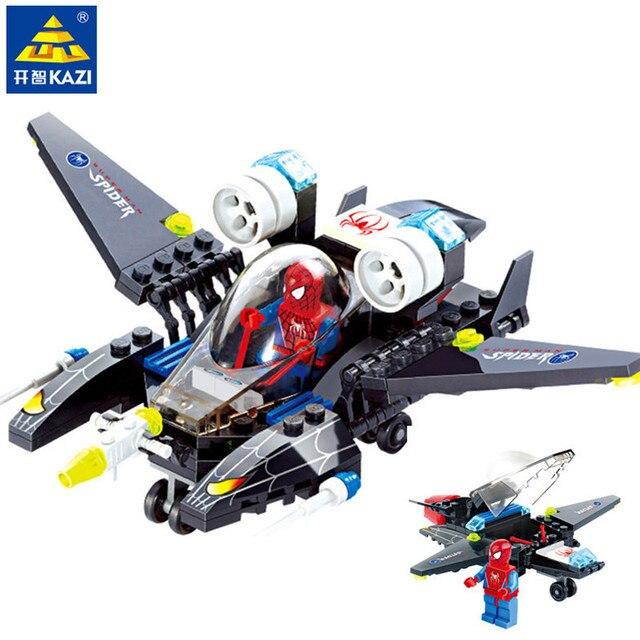 112 Pcs Spiderman Conjuntos de Blocos de Construção de Super Heróis Lutador Compatível LegoINGLs Figuras Tijolos Brinquedos Educativos para Crianças