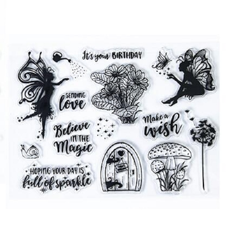 Fairy Girls Clear Stamp TPR Clear Transparent Stamp Rubber Seal DIY Scrapbooking/Card Making/Christmas Decoration Supplies