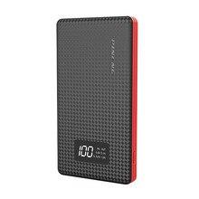 Banco do Poder Carregador de Bateria Portátil Power Bank 6000 MAH Bateria Externa Carregador Powerbank Dual USB Externo Móvel LCD Tela