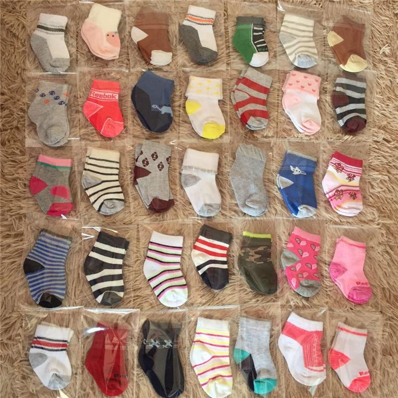 Хит! Милые носки для малышей, 10 пар, лето-осень, хлопковые нескользящие мягкие носки-тапочки с рисунком для новорожденных мальчиков и девоче...