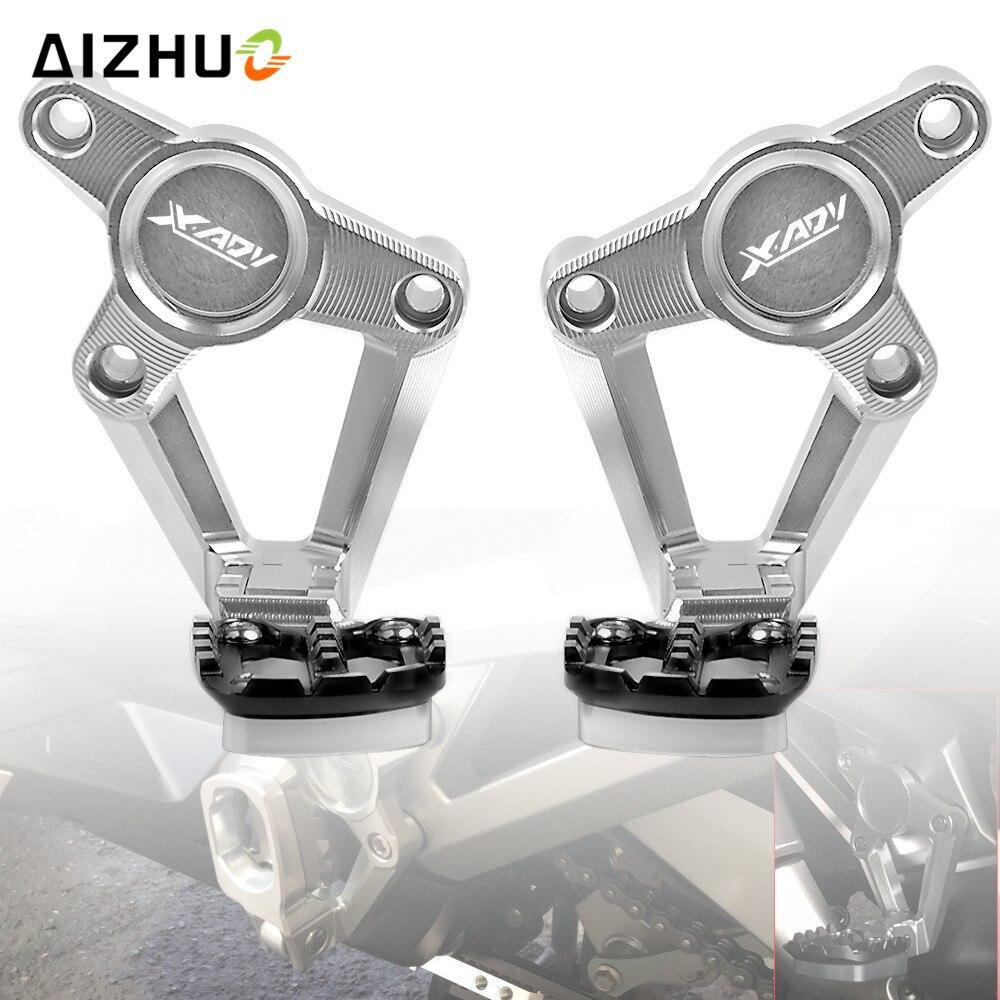 For HONDA X ADV XADV X-ADV 750 2017 2018 Folding Rear Foot Pegs Footrest Passenger Rear foot Set Motorcycle Accessories цены онлайн