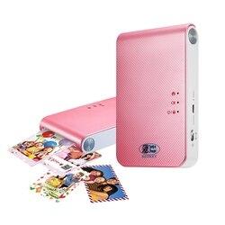 Impressora fotográfica portátil PD239 mini telefone celular com bluetooth câmera sem fio para o portátil de bolso máquina de impressão, impressora a cores