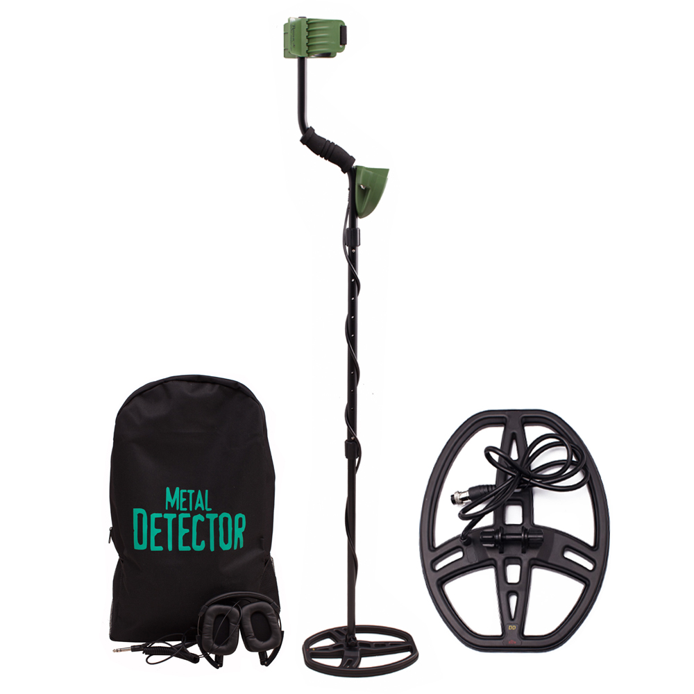 High Sensitivity MD6350 Professional Metal Detector Underground Search with Waterproof Coil and Headphone Pinpointer Hunter Gold