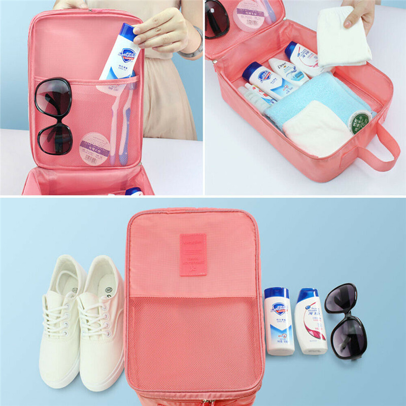 Image 2 - Portable Travel Shoes Storage Tote Ventilate Pouch Zip Bag Organizer 29 13 22c Household  Underwear Sorting Bag-in Storage Bags from Home & Garden
