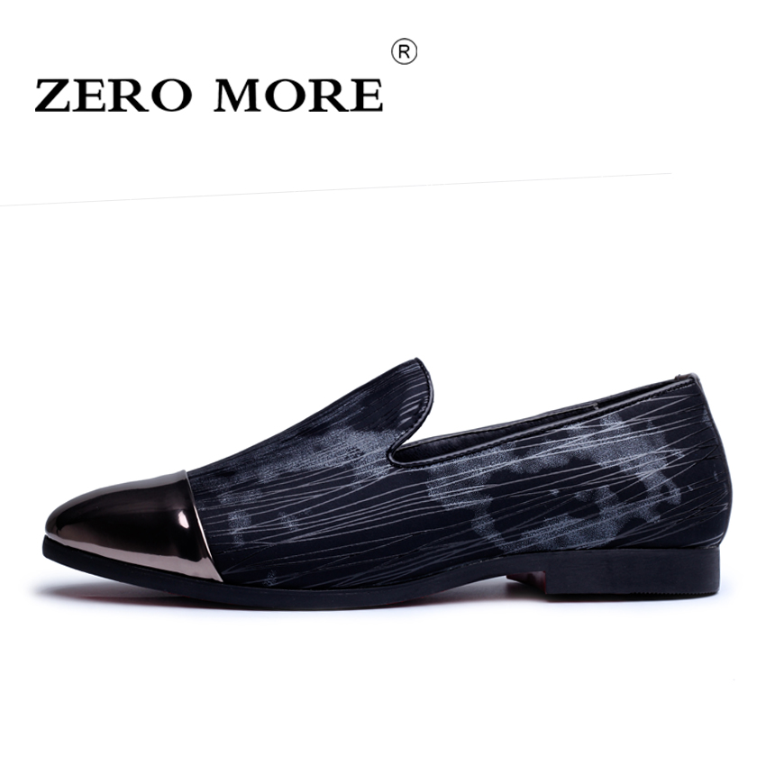 Fashion Men Shoes ZERO MORE Soft Leather Flat Shoes Casual Slip on Moccasins Men Loafers High Quality Driving Flats#ZM122