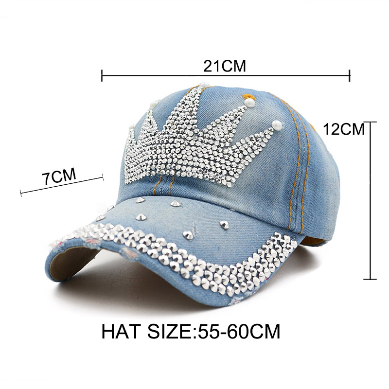 Detail Feedback Questions about Women Baseball Hat Diamond Studded ... 5bffa4e338c1