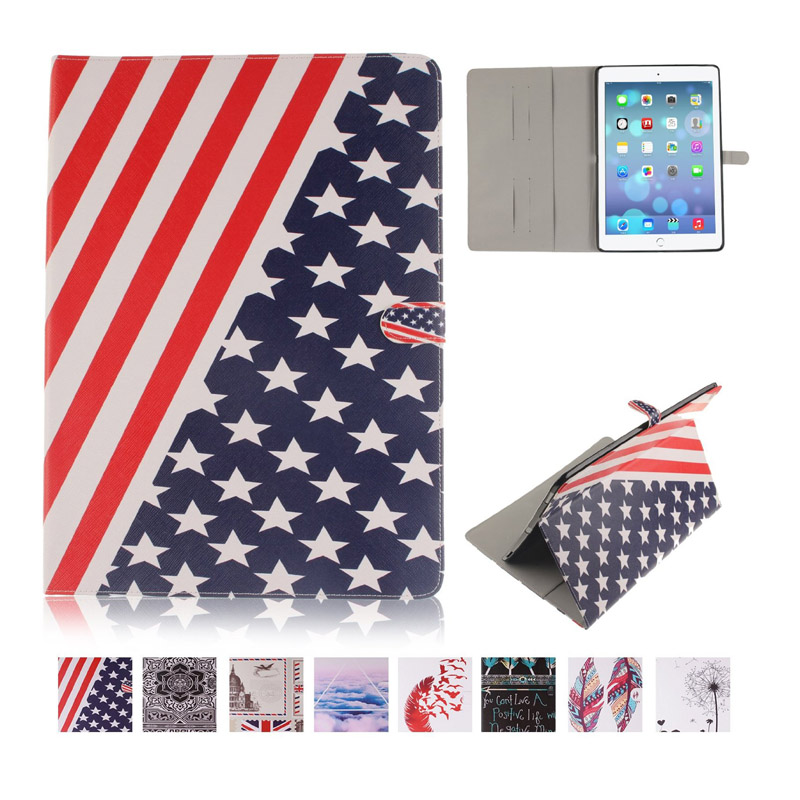 For Coque iPad Pro 12.9 Case Fashion Stylish PU Leather Flip Wallet Cover Case for iPad Pro 12.9  Stand Feature with Card Slots glossy leather wallet stand cover with 5 card slots for iphone 7 4 7 white