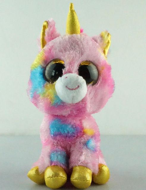 6 quot  TY Beanie Boos Glitter Eyes Fantasia Unicorn No Tag New Plush  Stuffed Toys e0b958db45a